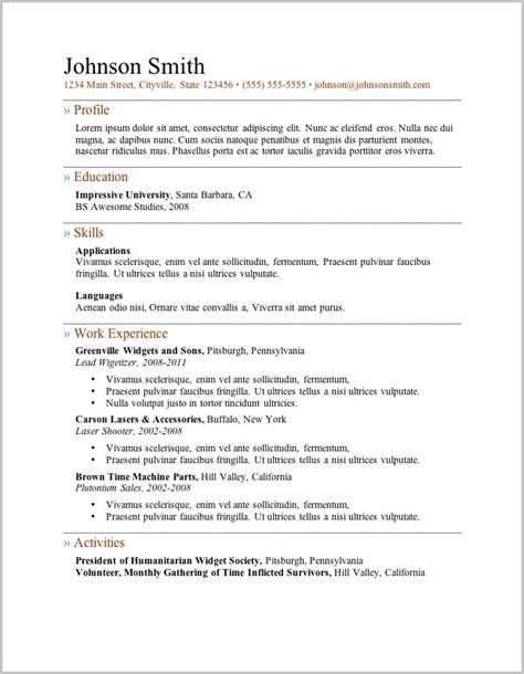 free resume format word file free resume format in word document resume resume exles w8zrer6pmk