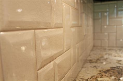 beveled tile backsplash pin by joan redfearn on