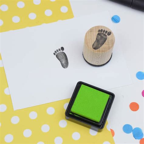 baby footprint rubber st baby footprint mini rubber st by the serious st