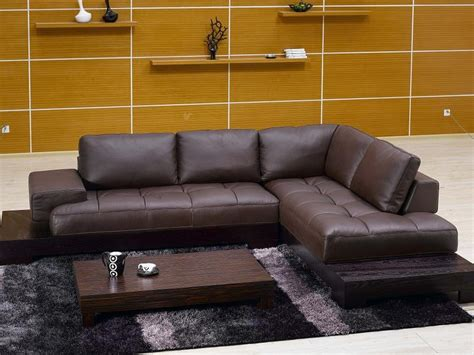 Martino Leather Sectional Sofa by Martino Leather Sectional Sofa Scifihits