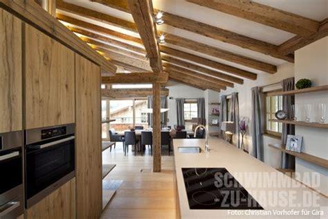 beleuchtung offene holzbalkendecke kueche landhaus jpg 540 215 360 pixel dachgeschoss