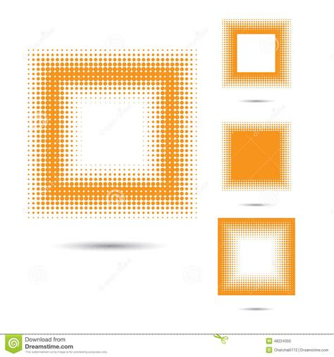 design elements square set of abstract halftone design elements square shape