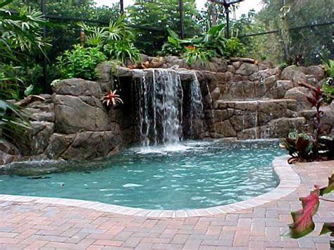 rock waterfalls for pools artificial rock gallery aqua magic pool spa san