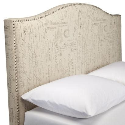 Script Nailhead Upholstered Headboard Full Queen Target