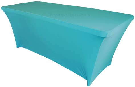 turquoise table cover 8 ft rectangular turquoise spandex table covers