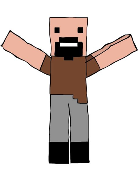 doodle draw minecraft notch drawing minecraft