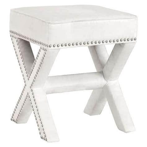 x stool ottoman studded x frame ottoman stool pbteen