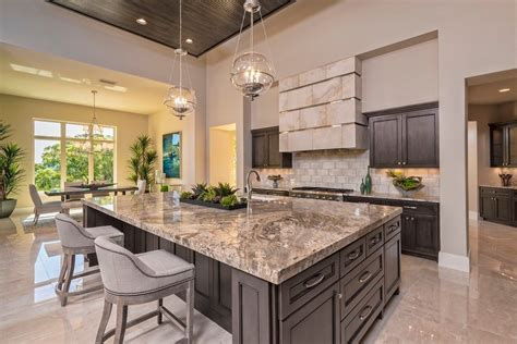 Granite Island Top Kitchen Contemporary with Marble