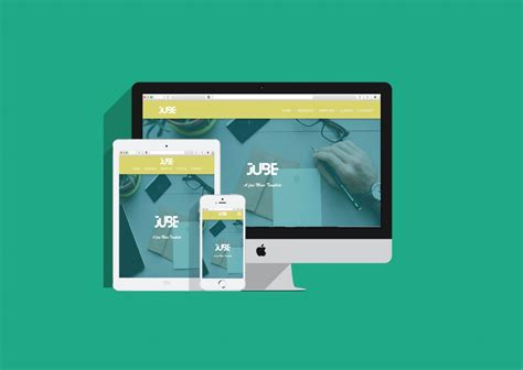 jube adobe muse responsive free template responsive