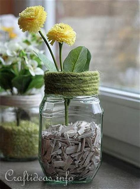 Flower Vase Craft Ideas by Decorating Idea For Recycling Craft Jar Flower