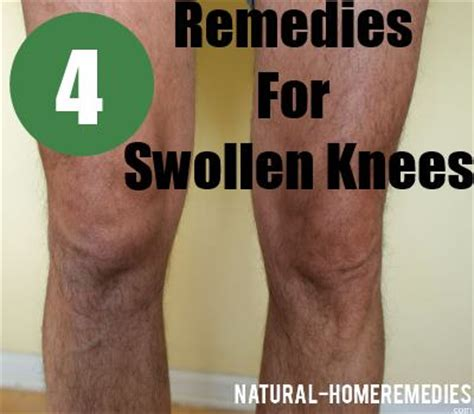 swollen knee what causes knee swelling remedies for