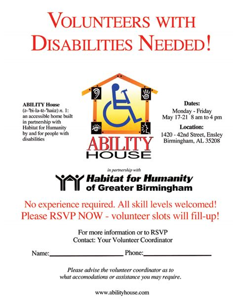 volunteer flyer template ability house flyers