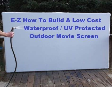 backyard projector screen diy projection screen movies free and screens on pinterest