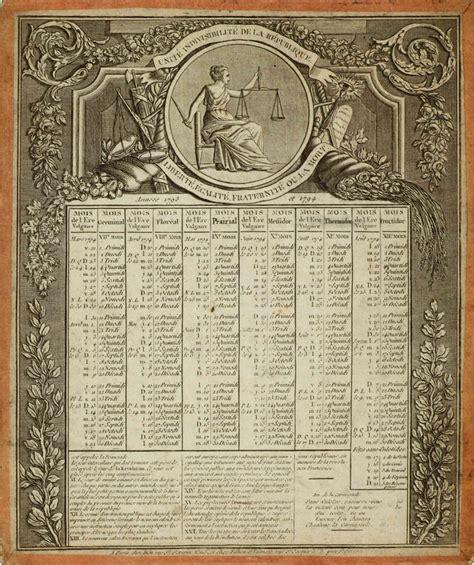 Calendrier Revolutionnaire Francais La R 233 Volution Fran 231 Aise Par L Image Le Calendrier