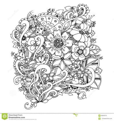 floral inspirations a detailed floral coloring book books vector illustration of flowers zentangle doodle zenart
