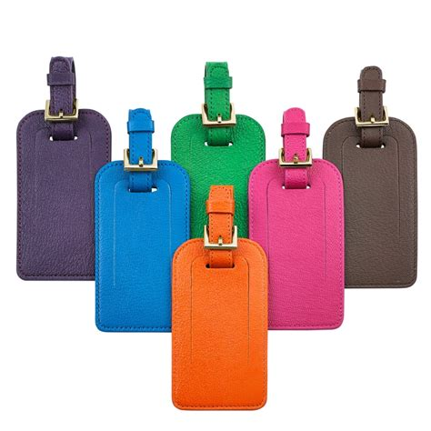 Luggage Tag graphic image luggage tag brights leather