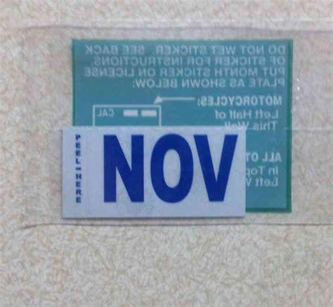 California Dmv Lost Registration Sticker