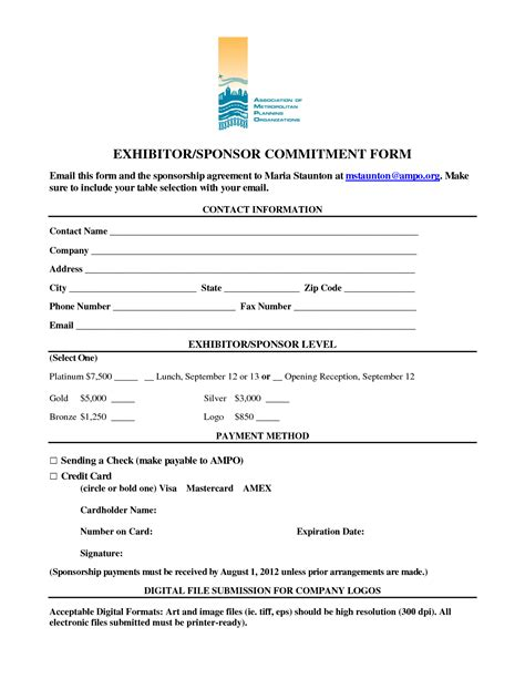 Sponsorship Letter Of Commitment Commitment Form Template 28 Images Doc 585600 Mortgage Commitment Letter Sle Mortgage