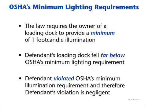 Osha Requirements For Lighting In Workplace Osha