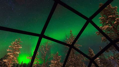 northern lights dome hotel the northern lights from glass igloos at hotel