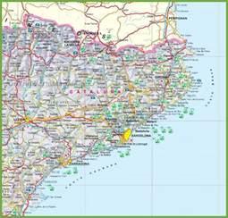 catalonia tourist map