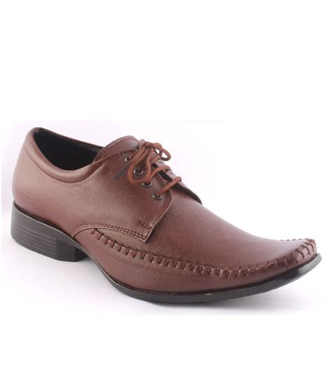 buy zapatoz brown formal shoes for snapdeal
