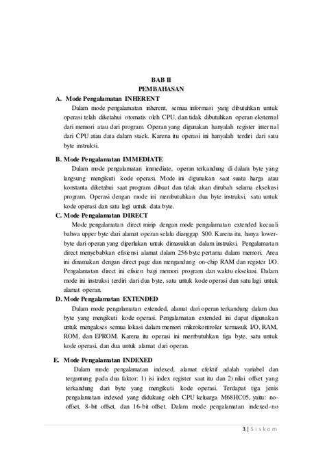 makalah format instruksi materi mode format pengalamatan