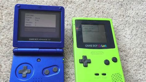 gameboy color gameboy color vs gba sp