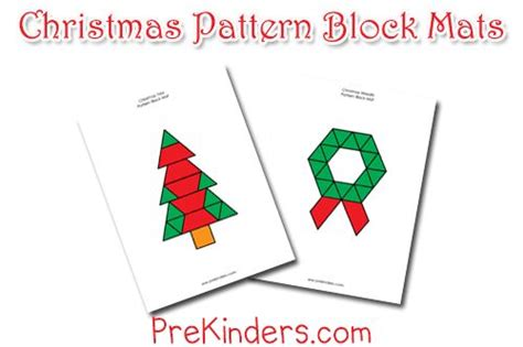 christmas pattern games 33 best images about pattern block printables on pinterest