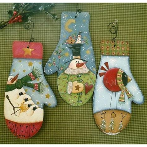 tole painting christmas ornament patterns the decorative painting store mitten ornaments newly added pattern packets crafting