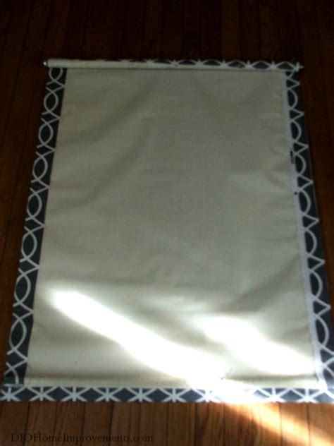diy fabric roller shade first home love life