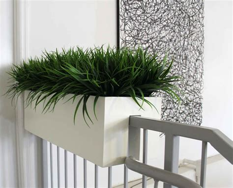 Contemporary Planter Boxes With Hanging Rail Window Box