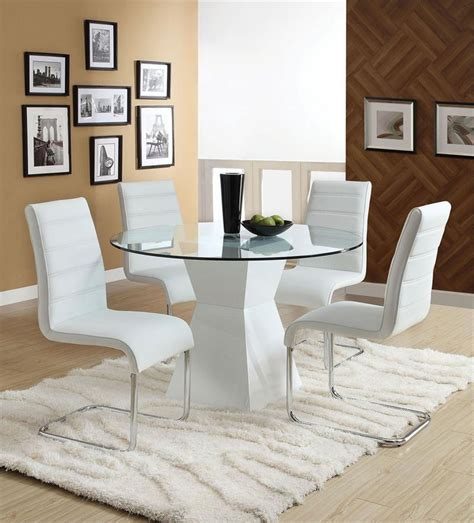 White Round Dining Room Table Marceladick Com Modern White Dining Table