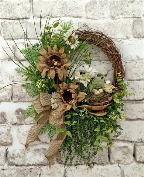 burlap summer wreath  door front door