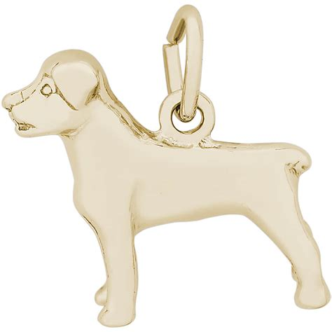 rottweiler charm gold plated 10 7780