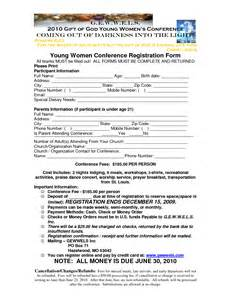 Youth Registration Form Template by Best Photos Of S Conference Registration Form