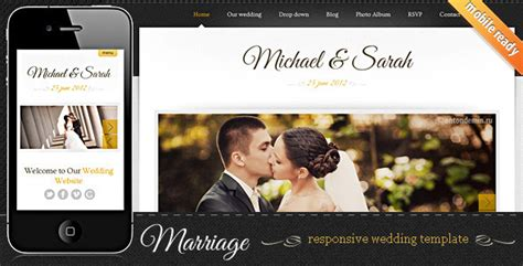 7 Elegant Html Wedding Website Templates Web Graphic Design Bashooka Marriage Website Templates Free