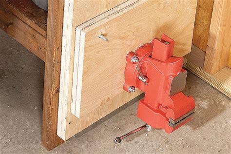 workshop bench vice workbench inspiration new zealand handyman magazine