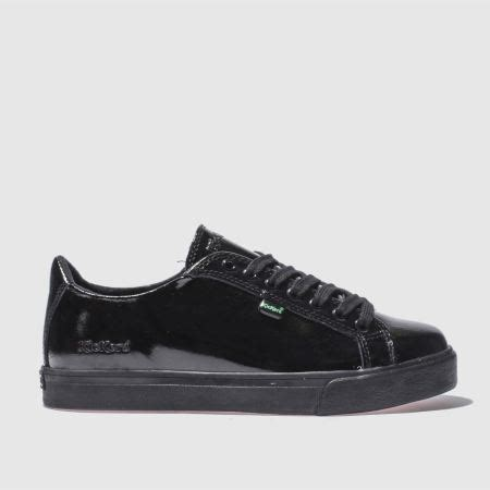 Kickers Flats womens black kickers tovni lacer flat shoes schuh