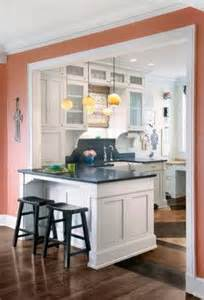 Small Kitchen And Dining Room Design Kitchen Wall Open Into Dining Room Design Ideas Pictures