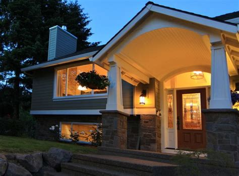 home entry best tips to design the outside of split level house