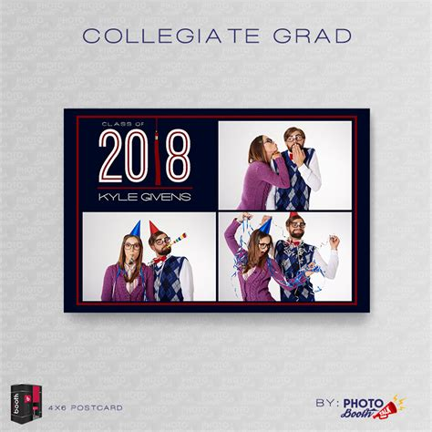 Collegiate Grad For Darkroom Booth Photo Booth Talk 4x6 Photo Booth Templates