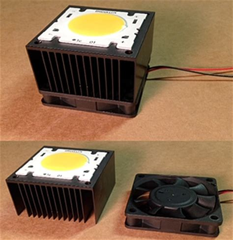 led resistor heat sink cooling high power leds the four myths about active vs passive methods edn