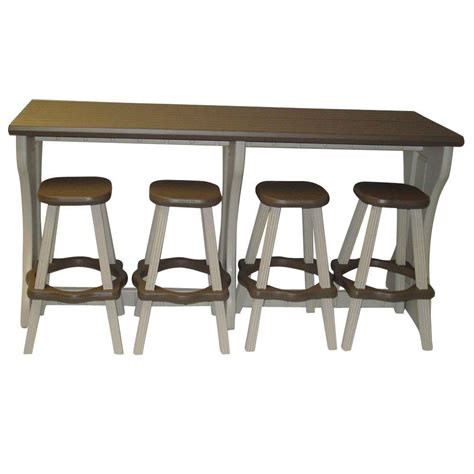 Bar Stool Table Sets Hton Bay Castle Rock 3 Patio High Bistro Set With Toffee Cushions S3 Ash00112 1 The