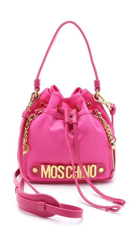 Bag For Pink lyst moschino bag pink in pink