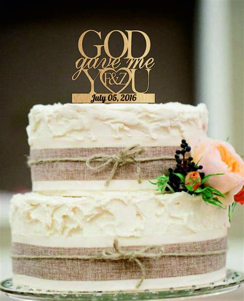 Caketopper Cake Topper Hpy Bdy M 1 wedding cake topper god gave me you caketopper wedding