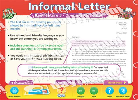 key features of the layout of a letter formal informal letter english educational software