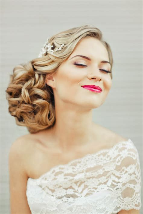 counrty wedding hairstyles for 2015 vestidos para novias 187 peinados de lado para tu boda 4