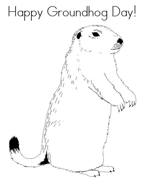 groundhog day free free printable groundhog day coloring pages
