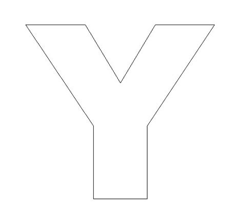 letter y template alphabet felt board craft crafts print your letter y